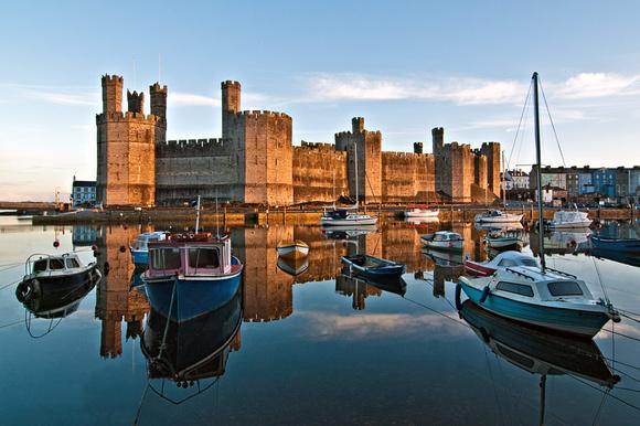 Caernarfon castle photograph North Wales