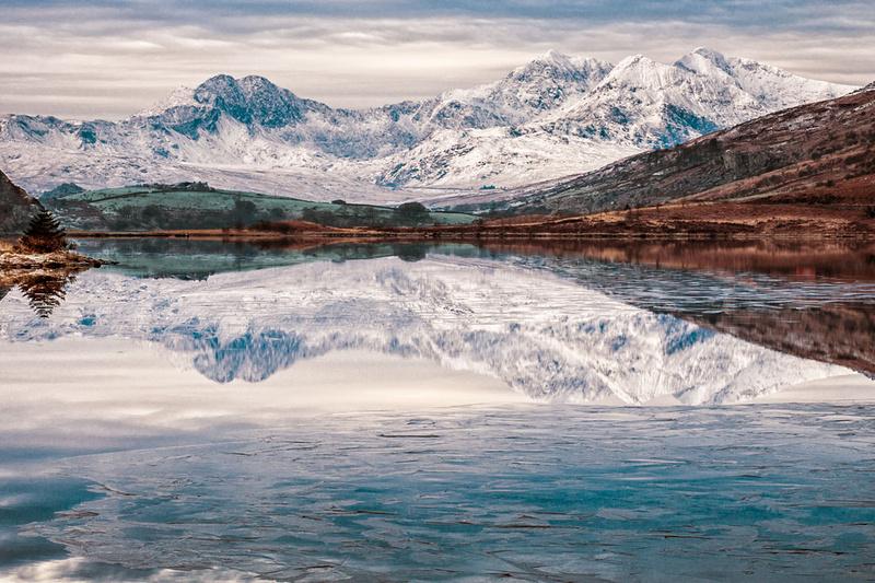 Snow-capped Snowdon photograph