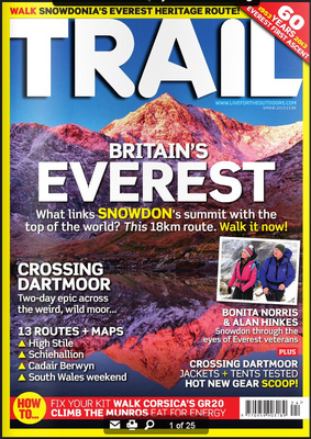 Snowdon photograph Trail Magazine