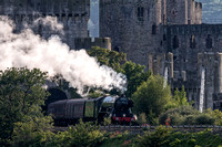 flying scotsman steam locomotive photo conwy castle north wales