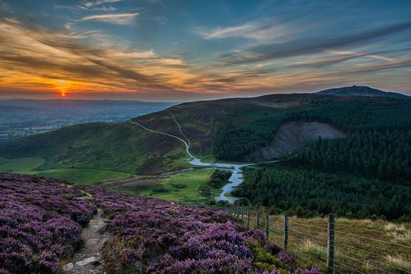 moel famau photo clwydian hills sunset photo
