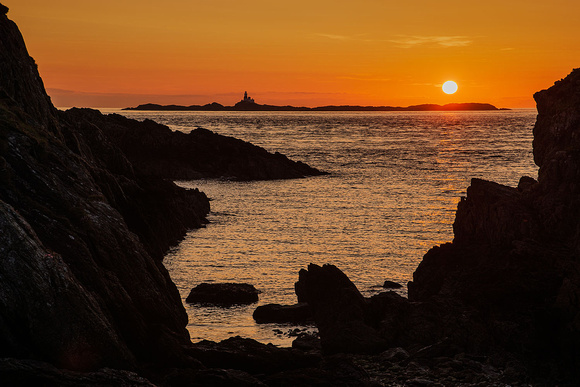 skerries sunset photo carmel head anglesey