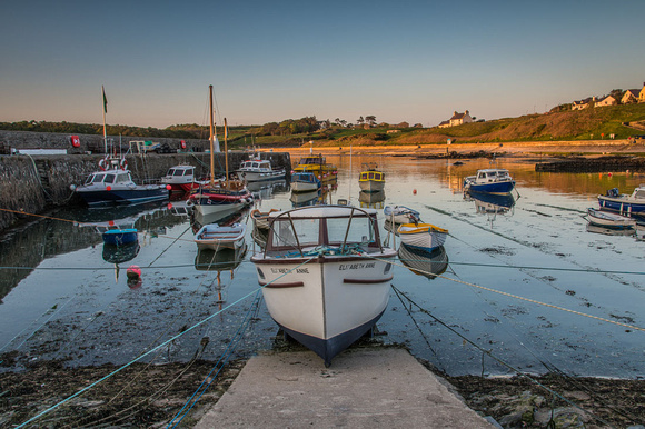 cemaes harbour sunset photo anglesey north wales boats