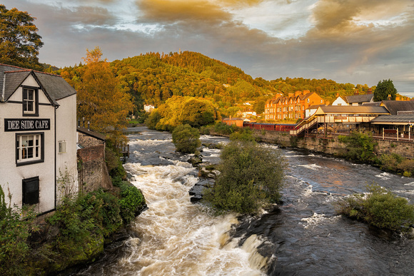 Llangollen River Dee North Wales morning light photo