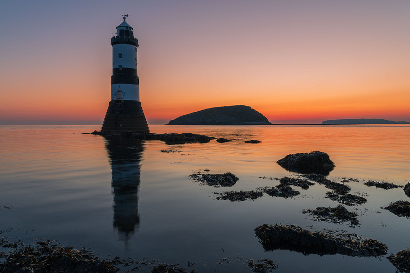 penmon sunrise anglesey photo Trwyn Du Lighthouse