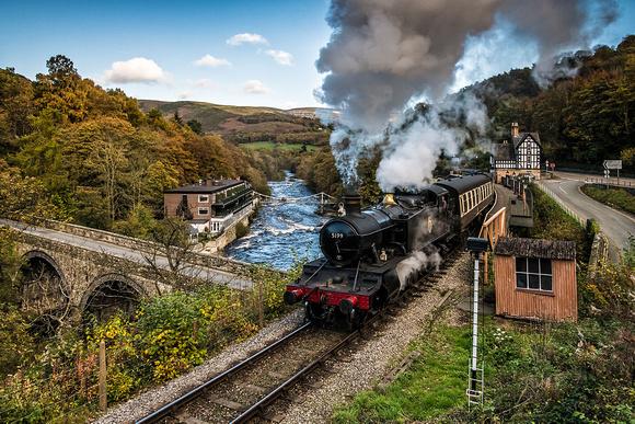 berwyn station llangollen railway steam north wales photo