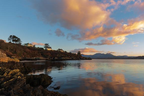 borth y gest sunrise reflections afon glaslyn llyn peninsula north wales