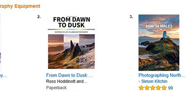 photographing north wales photo location guidebook in the top of the charts on amazon