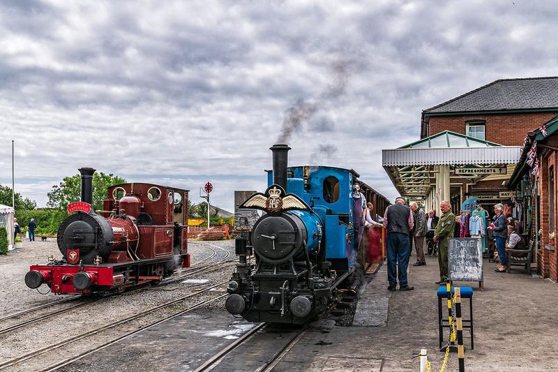Talyllyn railway RAF centenary celebrations at Tywyn station