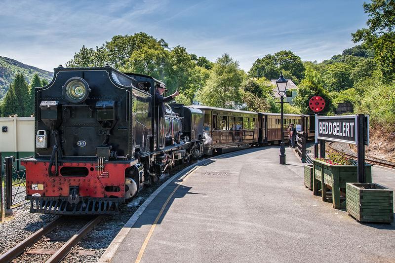 welsh highland railway steam locomotive beddgelert snowdonia north wales photo