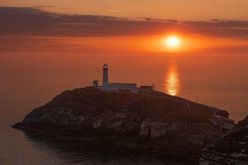 south stack lighthouse summer sunset photo anglesey north wales