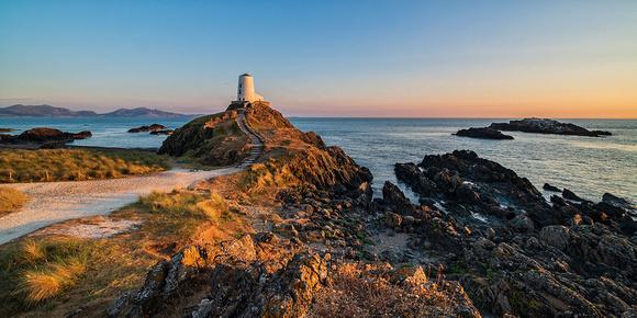 llanddwyn island summer sunset photo north wales anglesey lighthouse