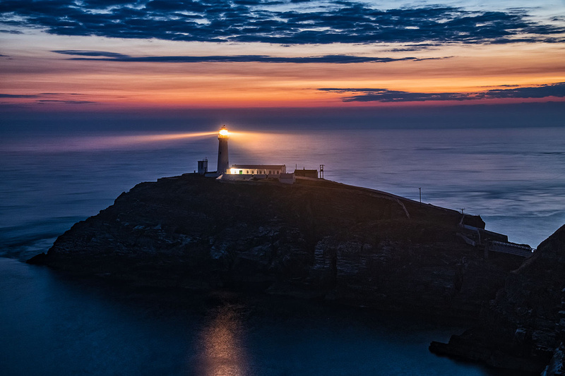 south stack lighthouse night photo anglesey north wales