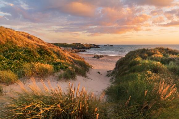 llanddwyn island sunset Malltraeth Bay anglesey marram grass