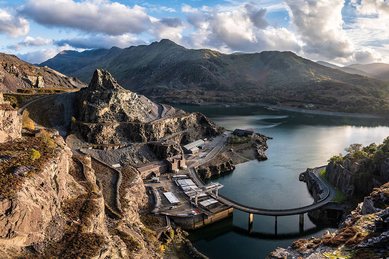 electric mountain power station llanberis dinorwic quarry view