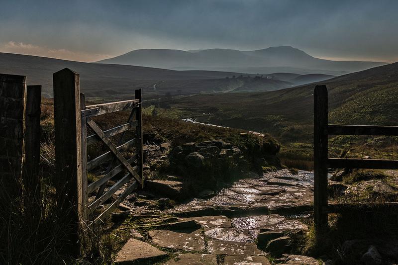 ingleborough view from whernside yorkshire dales
