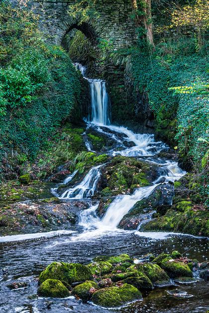 waterfall clapham yorkshire dales photo