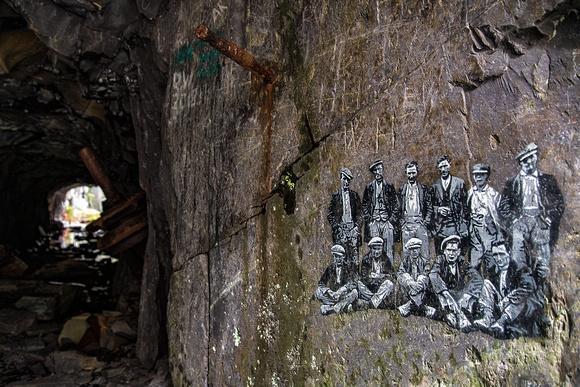 quarrymen painting dinorwic quarry llanberis