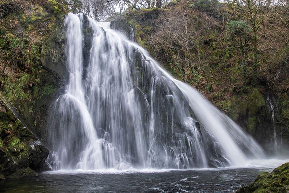Ceunant Mawr Waterfall llanberis north wales snowdonia photo