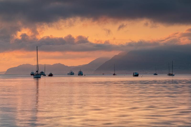 Menai Strai sunrise from Beaumaris Anglesey