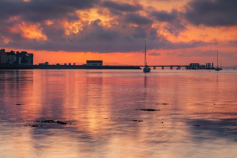 Menai Strait sunrise at Beamaris Pier