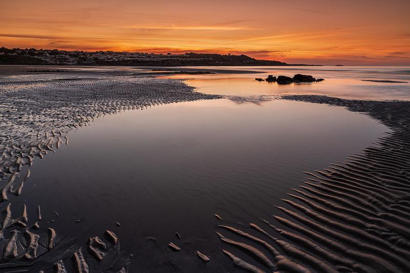 benllech sunset anglesey beach photo