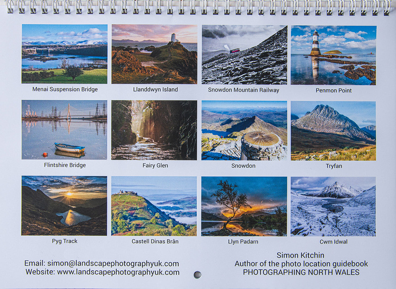 North Wales Calendar 2020 by Simon Kitchin author of Photographing North Wales