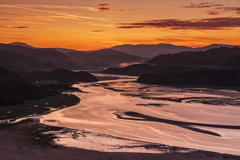 Barmouth sunrise Mawddach estuary north wales