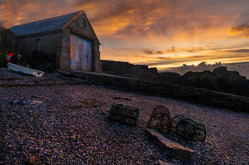 moelfre sunrse lifeboat station anglesey north wales photo