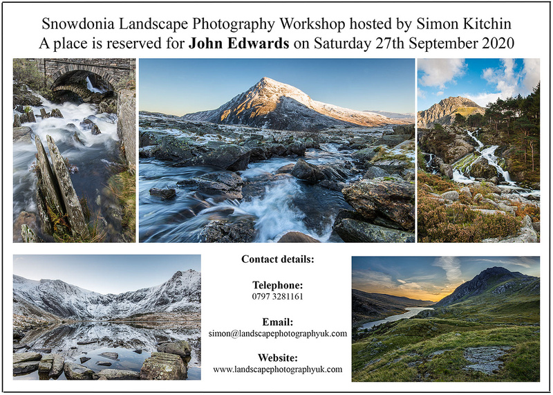 workshop gift voucher snowdonia cwm idwal by simon kitchin