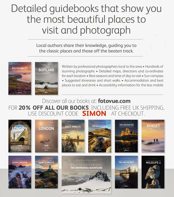 FotoVue 20% discount on all photo location guidebooks