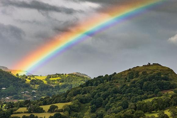 castell dinas bran rainbow llangollen north wales