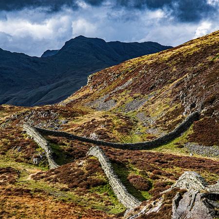 Lingmoor fell autumn walk and langdales views