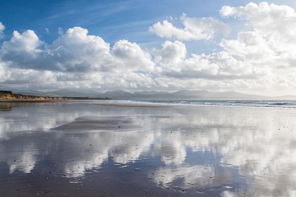 Traeth Llanddwyn Newborough beach reflections