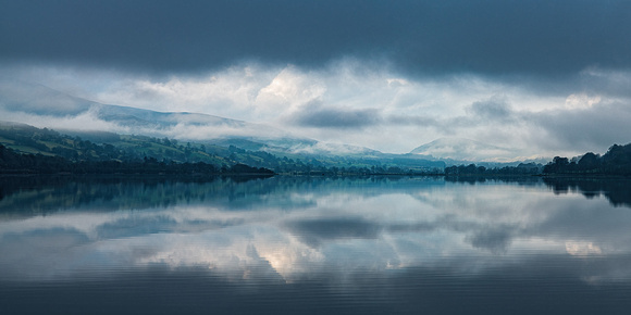 Misty morning on Bala Lake in Snowdonia North Wales