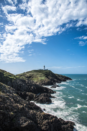 strumble head lighthouse pembrokeshire coastal path photo
