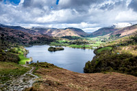 grasmere snow lake district photo ambleside
