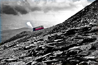 Snowdon mountain railway photograph Snowdonia