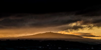 Moel Famau sunset light clwydian hills photo north wales
