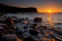 nant gwrtheyrn sunset photo llyn peninsula photographs north wales welsh heritage centre