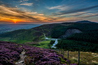 moel famau photo clwydian hills sunset photo