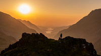 sunset snowdon llanberis pass pyg track photo north wales