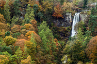 pistyll rhaeadr waterfall autumn north wales photo