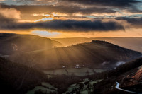 horseshoe pass llangollen sunrise