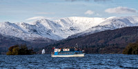 bowness on windermere photo ambleside snow fairfield lake district