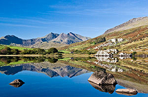 Snowdon reflection photograph