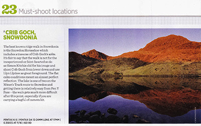 Advanced Photographer Magazine Snowdon Crib Goch photograph