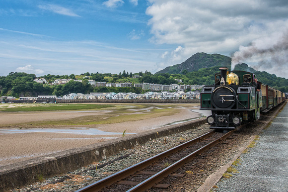 ffestiniog railway porthmadog station north wales snowdonia the cob photo