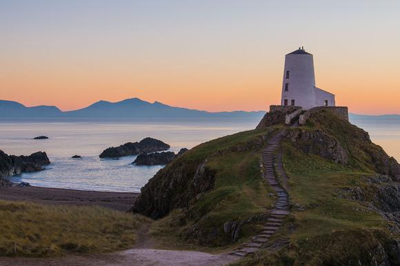 llanddwyn island anglesey sunset north wales photo lighthouse winter
