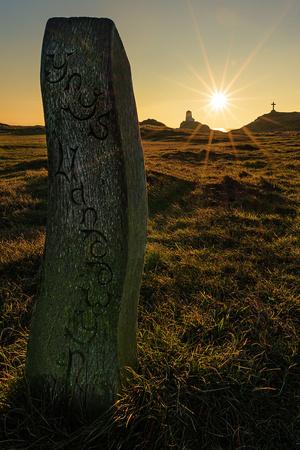 sunset photo llanddwyn island north wales anglesey